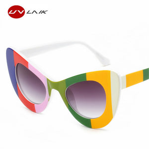 UVLAIK Women's Sunglass Goggles Sun Glasses Mirrored NIRVANA Kurt Cobain Sunglasses Women Fahion Butterfly Frame Female Sunglass