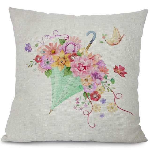 Garden dreams floral cushion covers Butterflies pillow case (butterflies and flowers)