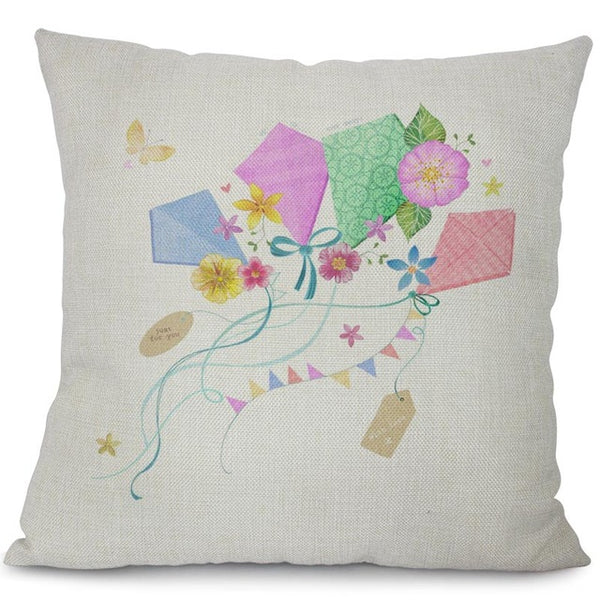 Garden dreams floral cushion covers Butterflies pillow case (butterflies and kites)