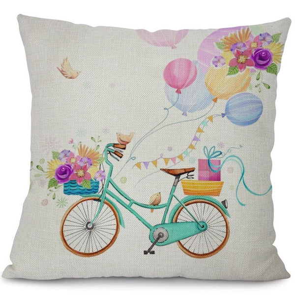 Garden dreams floral cushion covers Butterflies pillow case (butterflies and bikes)