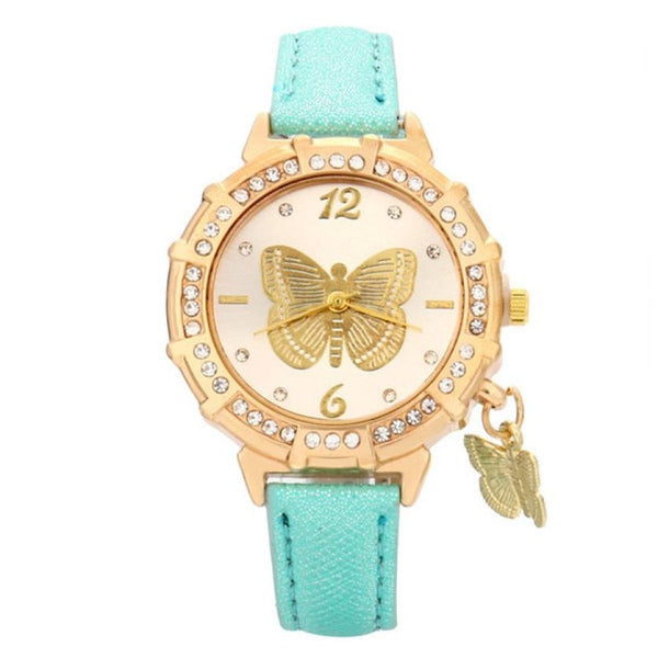turquoise butterfly watch