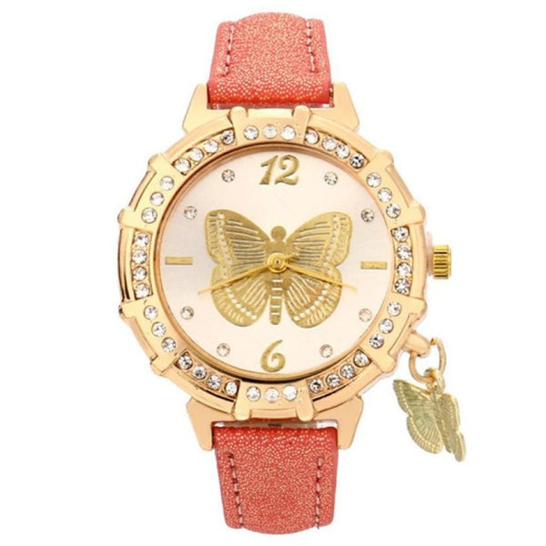red butterfly watch