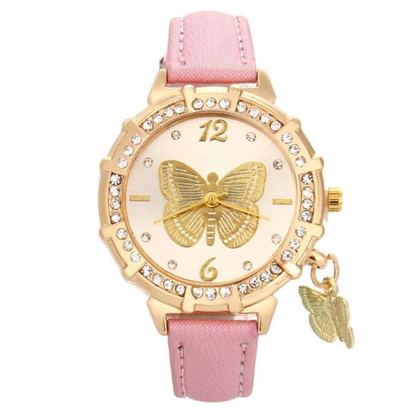pink butterfly's watch