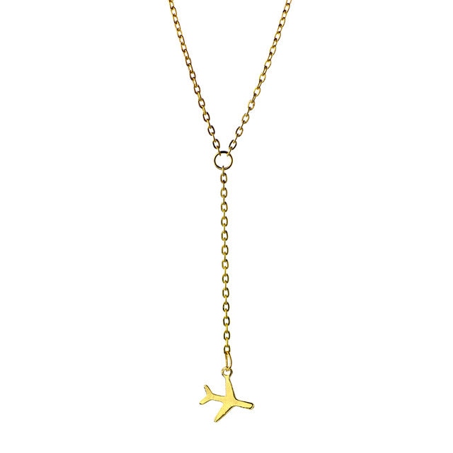 Airplane necklace Fashion necklace for women Cheap neclace (gold version)