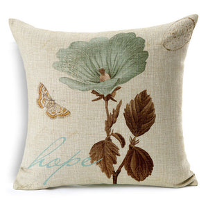 Vintage Flowers & Butterflies -- Floral Cushion Covers