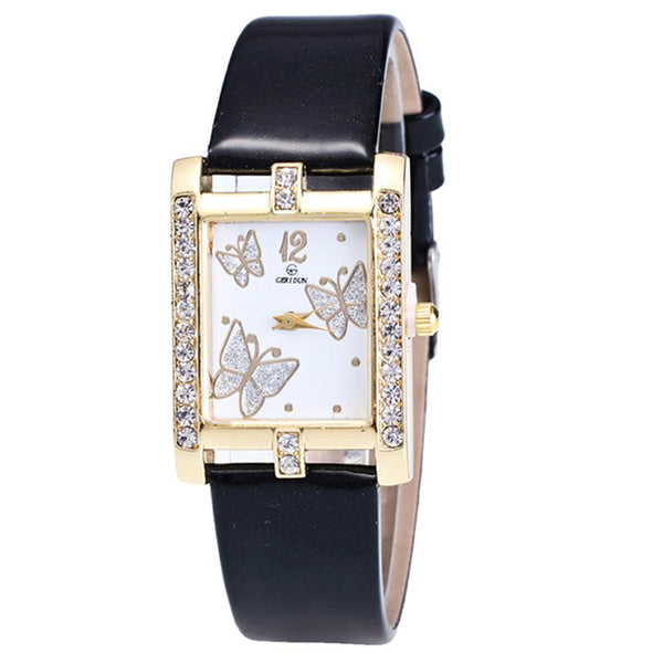 Square Classic -- Butterfly watches Women watches (black)