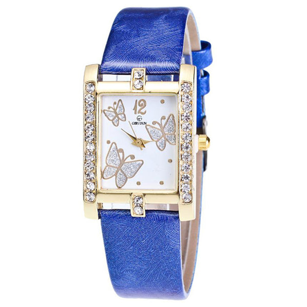 Square Classic -- Butterfly watches Women watches (blue)