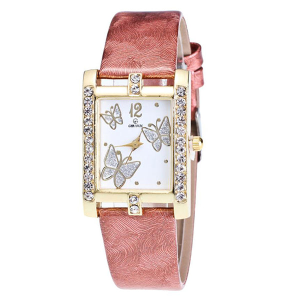 Square Classic -- Butterfly watches Women watches (coffee)