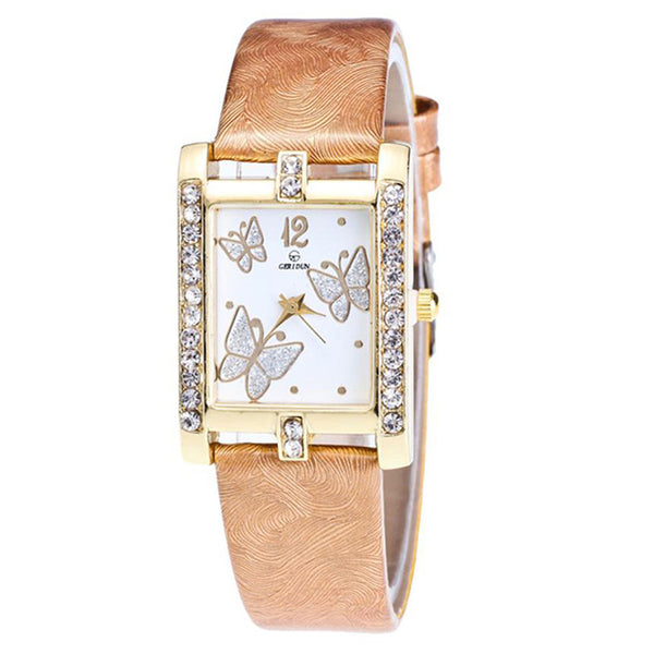 Square Classic -- Butterfly watches Women watches (gold)