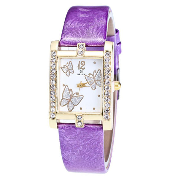 Square Classic -- Butterfly watches Women watches (purple)