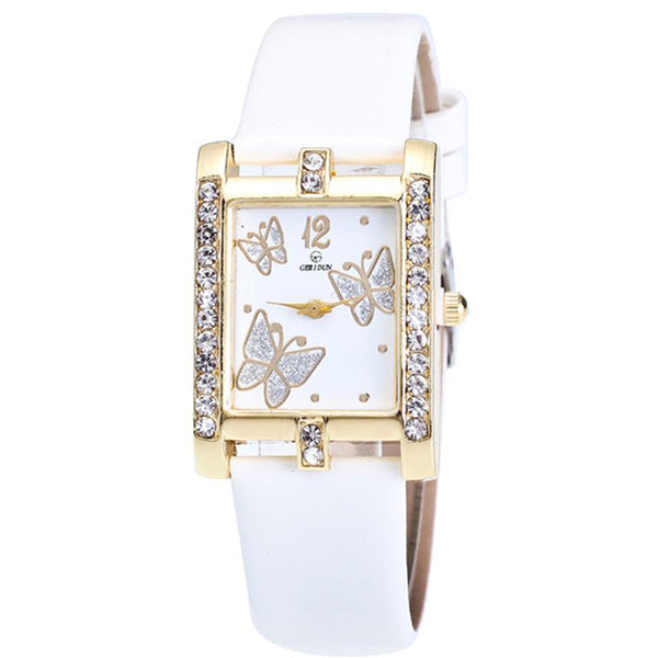 Square Classic -- Butterfly watches Women watches (white)