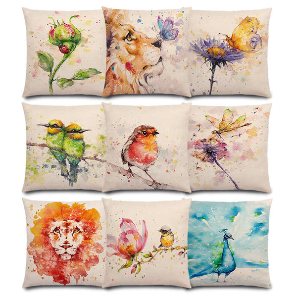 Watercolor Butterflies -- Floral cushion covers Pillow case (all collections)