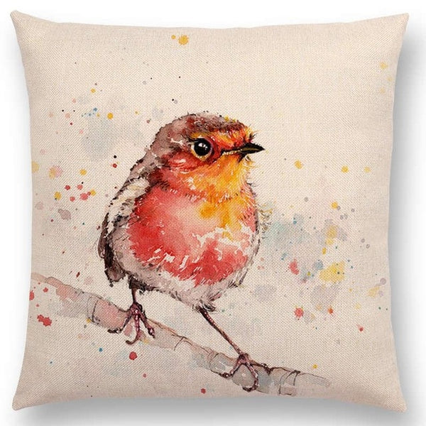 Watercolor Butterflies -- Floral cushion covers Pillow cases (robin bird)