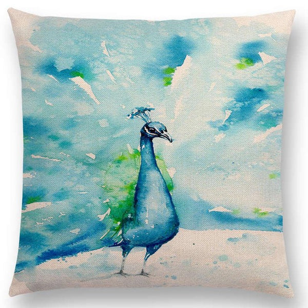 Watercolor Butterflies -- Floral cushion covers Pillow case (peacock)