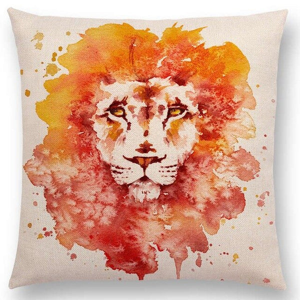 Watercolor Butterflies -- Floral cushion covers Pillow cases (lion)