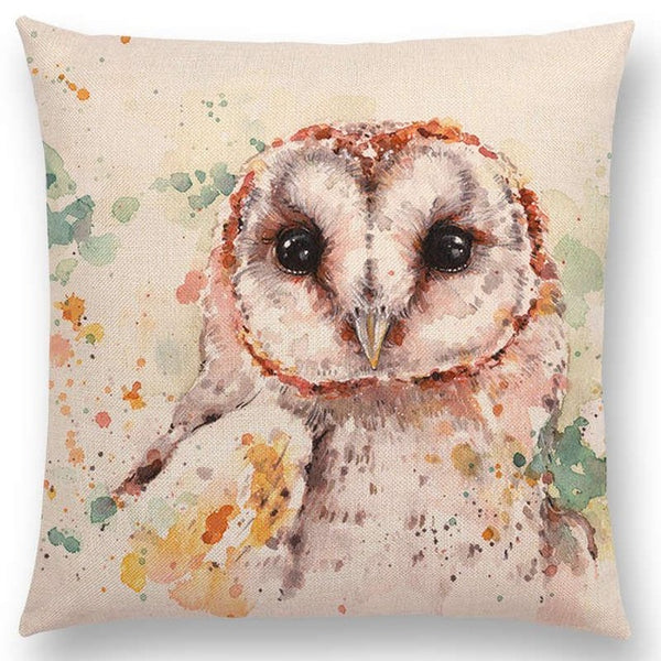 Watercolor Butterflies -- Floral cushion covers Pillow case (owl)
