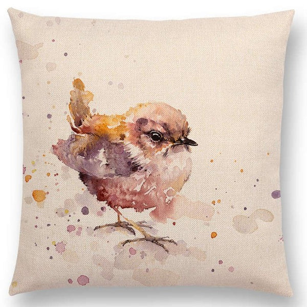 Watercolor Butterflies -- Floral cushion covers Pillow cases (sparrow)