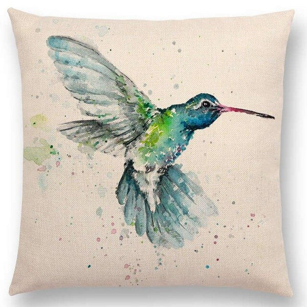 Watercolor Butterflies -- Floral cushion covers Pillow case (humming bird)