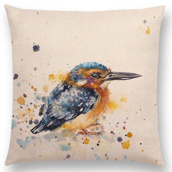 Watercolor Butterflies -- Floral cushion covers Pillow cases (kingfisher)
