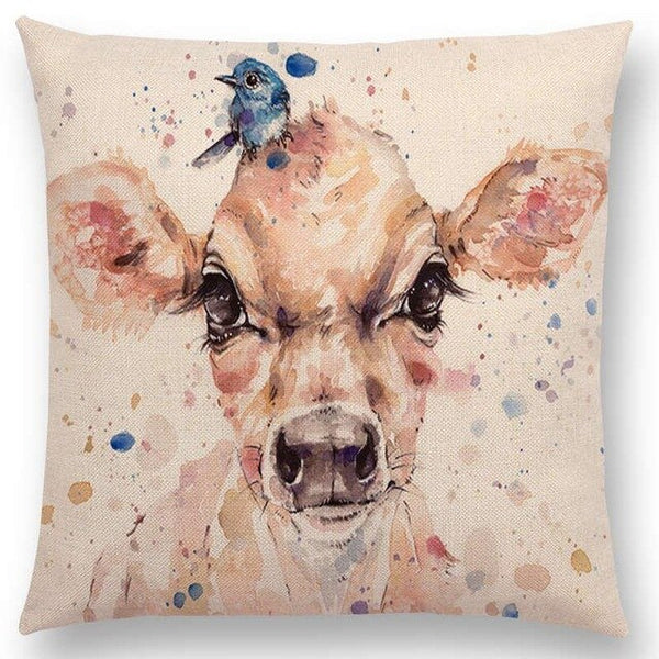 Watercolor Butterflies -- Floral cushion covers Pillow cases (deer and bird)