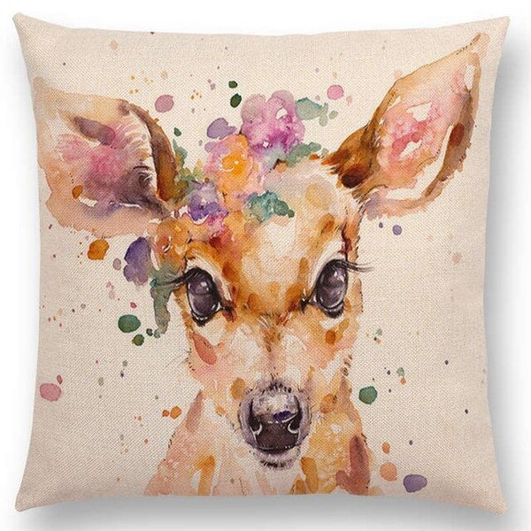 Watercolor Butterflies -- Floral cushion covers Pillow cases (deer)