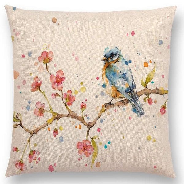 Watercolor Butterflies -- Floral cushion covers Pillow case (bird and sakura)