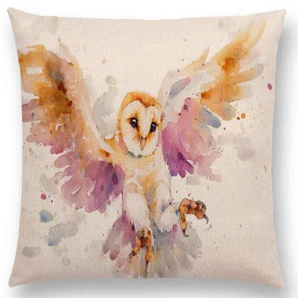 Watercolor Butterflies -- Floral cushion covers Pillow case (family owl)