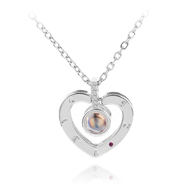 pendant in heart shape (silver)
