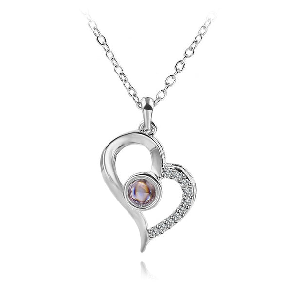 pendant in twisted heart shape (silver)