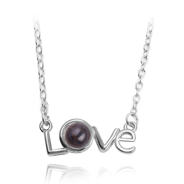 pendant in LOVE shape (silver)