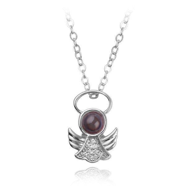 pendant in angel shape (silver)