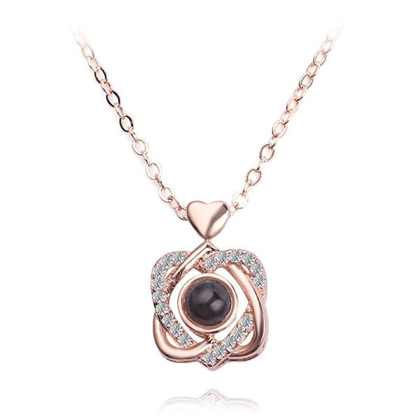 pendant in square shape (rose gold)