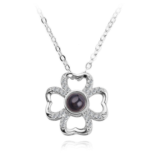 pendant in lucky clover shape (silver)