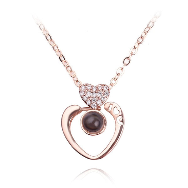 rounded heart shape (rose gold)