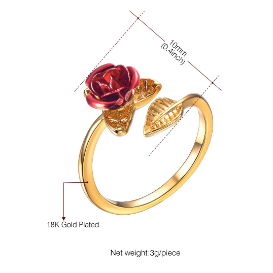 dimensions for the ring, and it is adjustable, fit for slim fingers, fat fingers, and short fingers alike