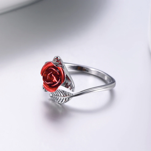 red rose goes well with silver tone too
