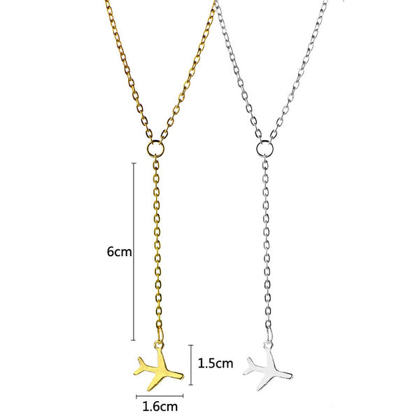 Airplane necklace Fashion necklace for women Cheap neclace (dimensions)