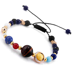 solar system charm bracelet, pull string version, main view