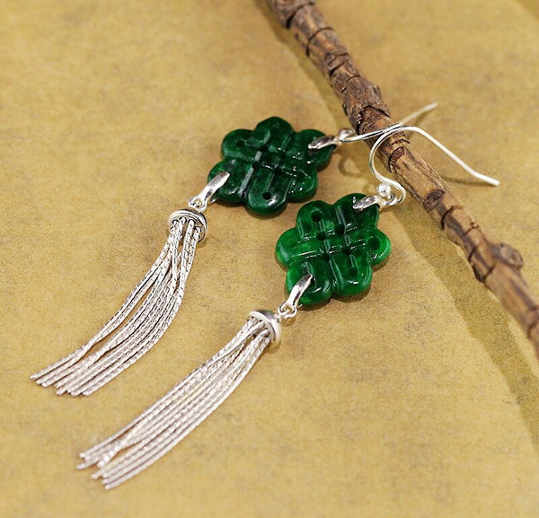 sterling silver tassels dance on your ears as you walk!