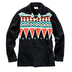 Joe McCoy Print Corduroy Shirt / Native Pattern