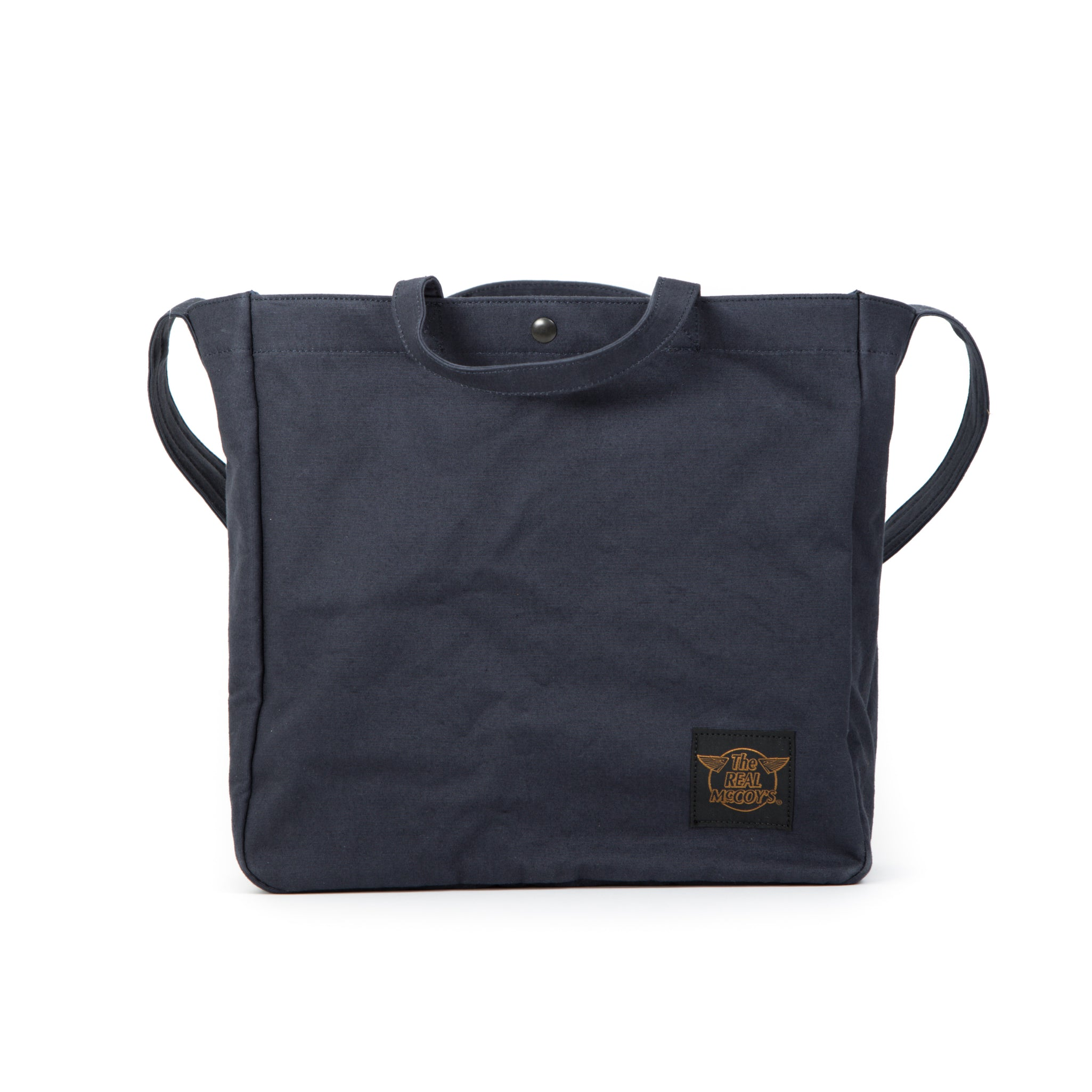 The Real McCoy's Eco Shoulder Bag (Navy Cotton Canvas)