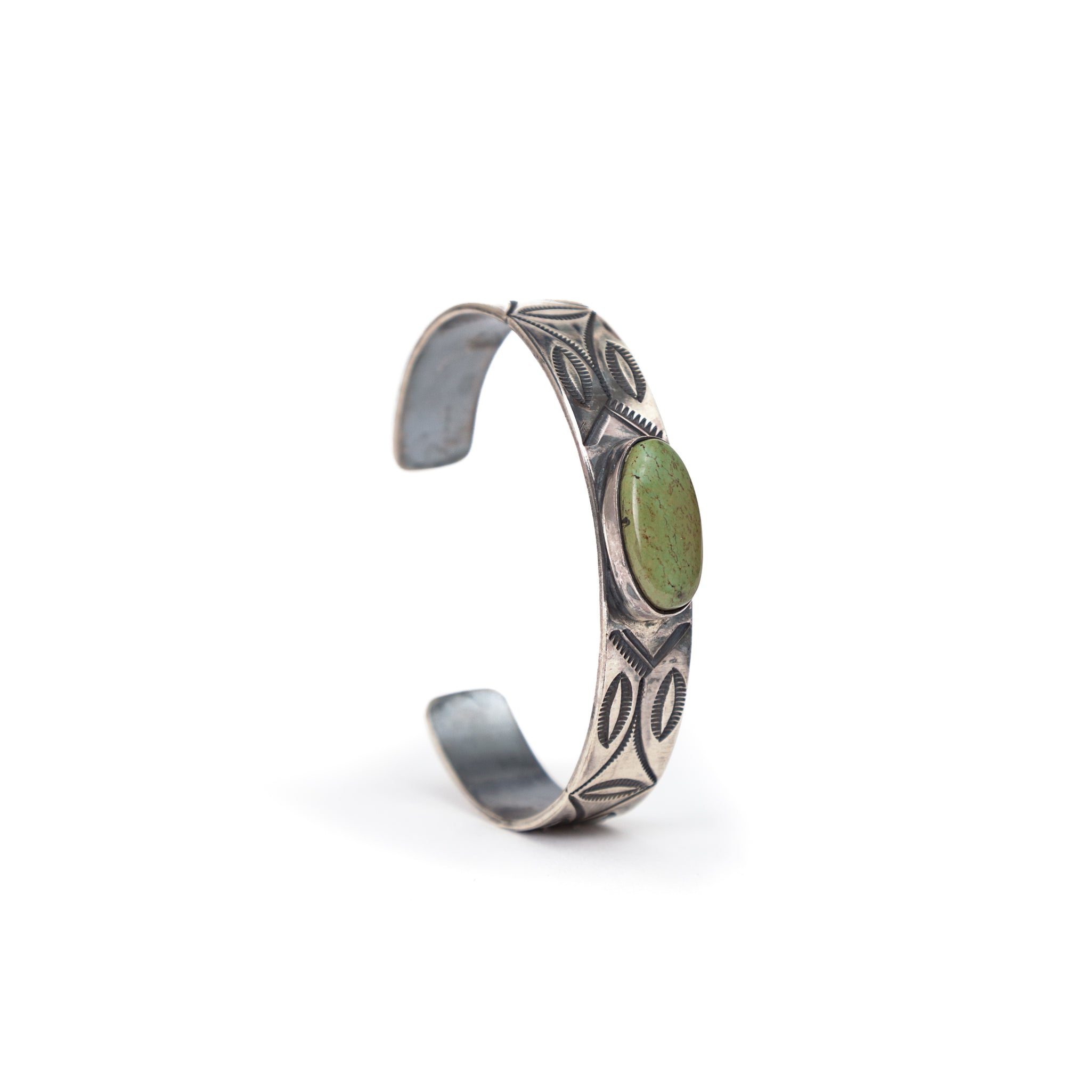 Silver Cuff & Turquoise Stone #5