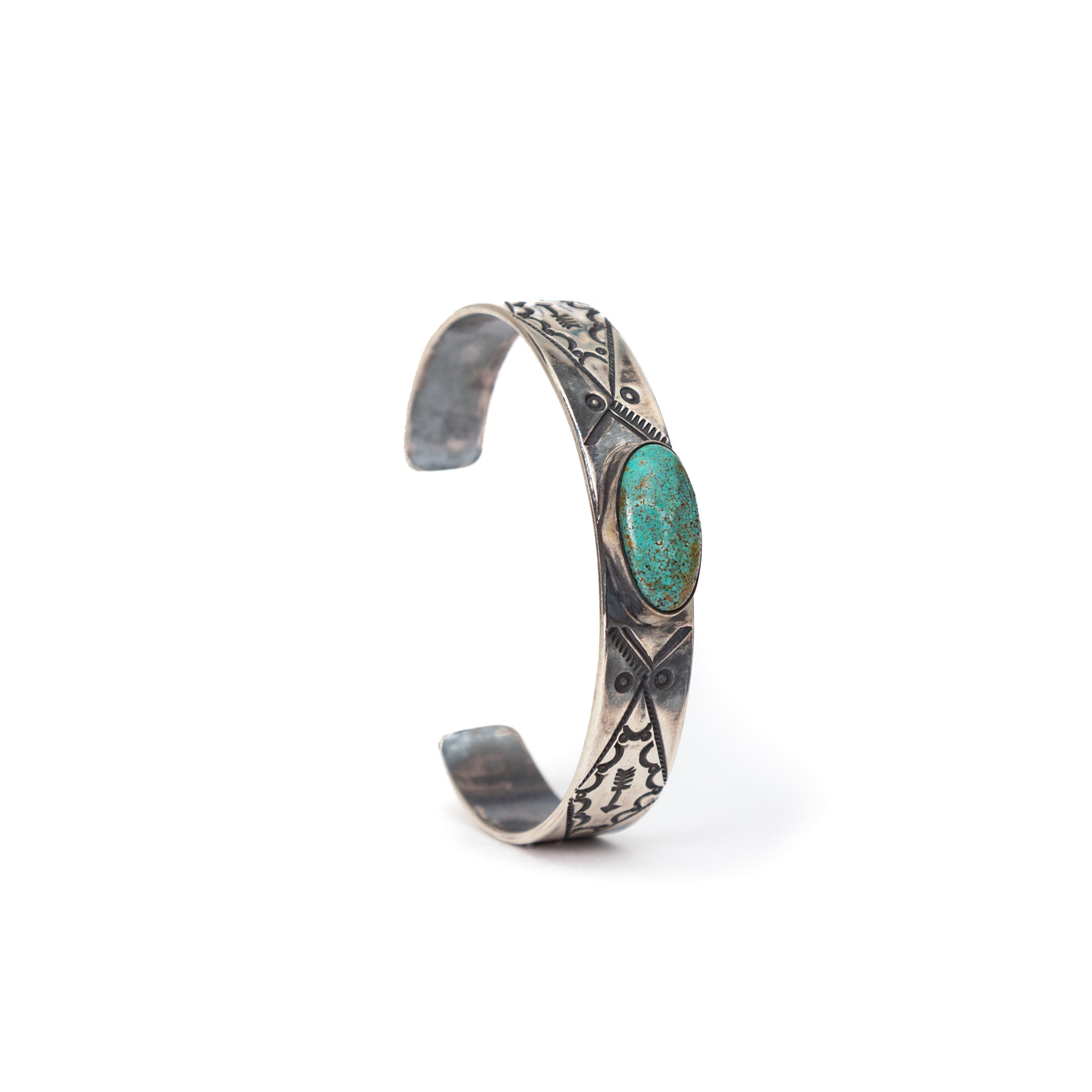 Silver Cuff & Turquoise Stone #3