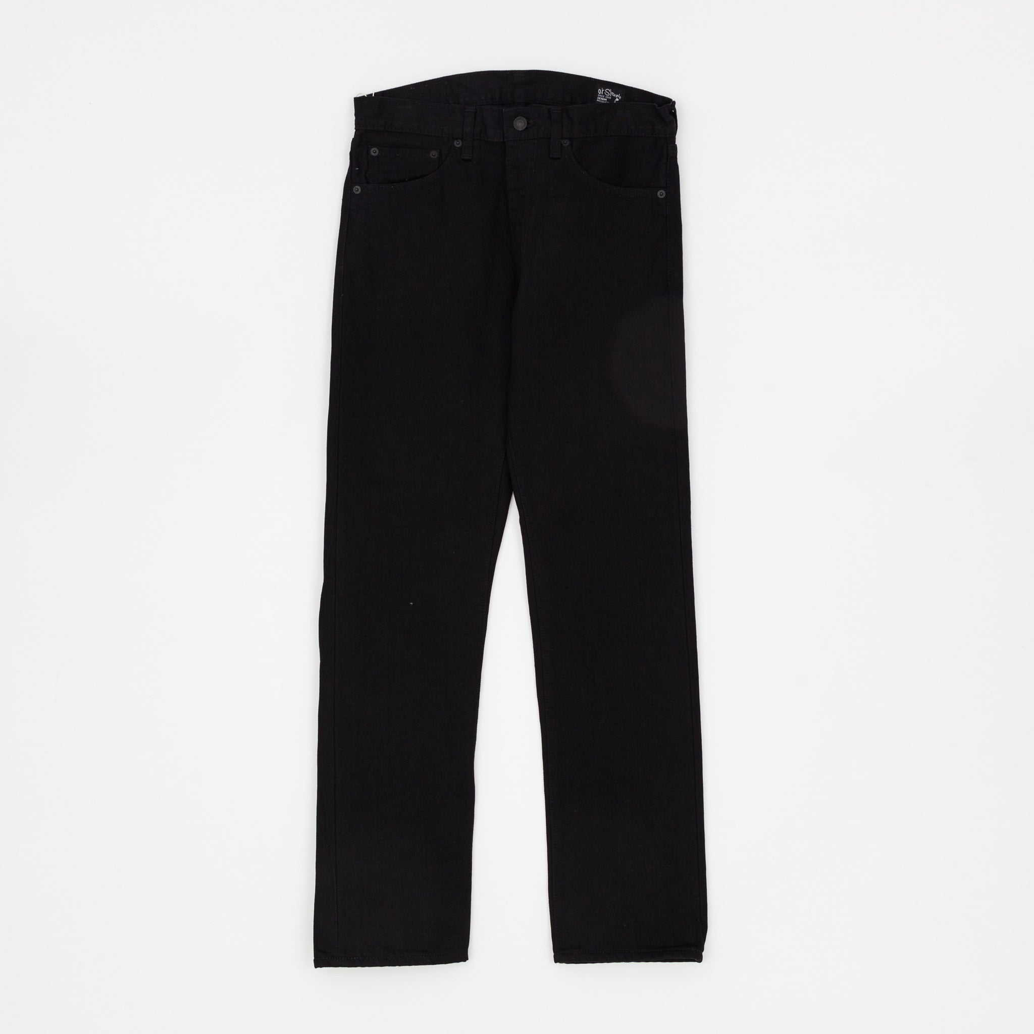 107 Slim Black Denim Pants