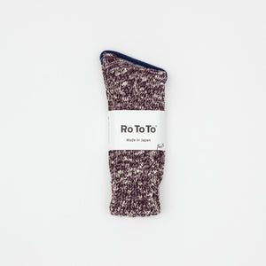 Low Gauge Slub Crew Socks