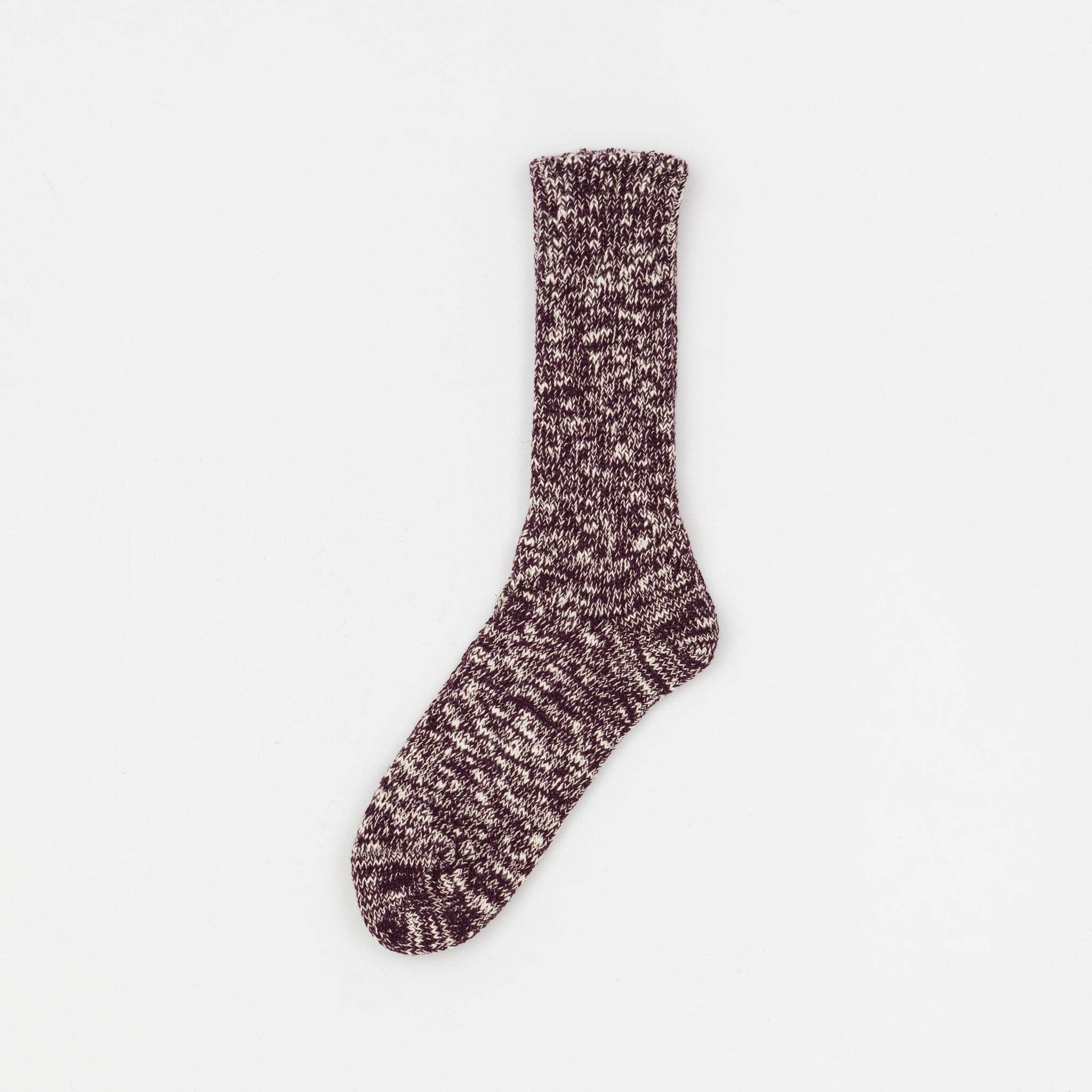 ROTOTO-LOW-GAUGE-SLUB-CREW-SOCKS-BURGUNDY-SUNNYSIDERS-2.jpg