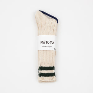 "Low Raw Socks ""2 Stripes"""