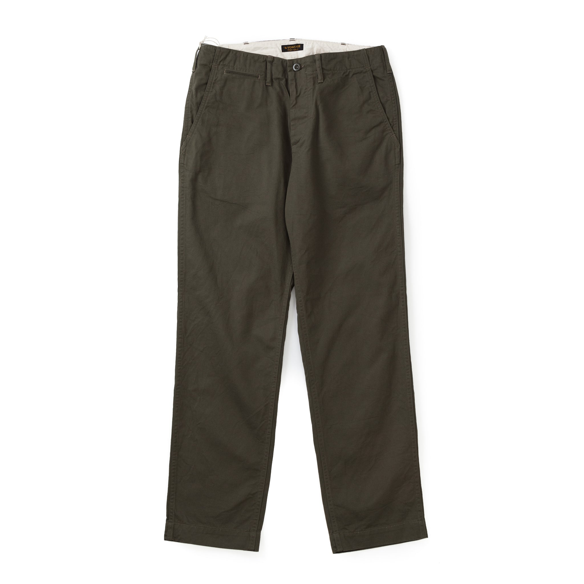 A Vontade Classic Chino Trousers (Regular Fit) Olive