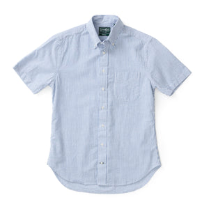 Blue Stripe Seersucker Shirt