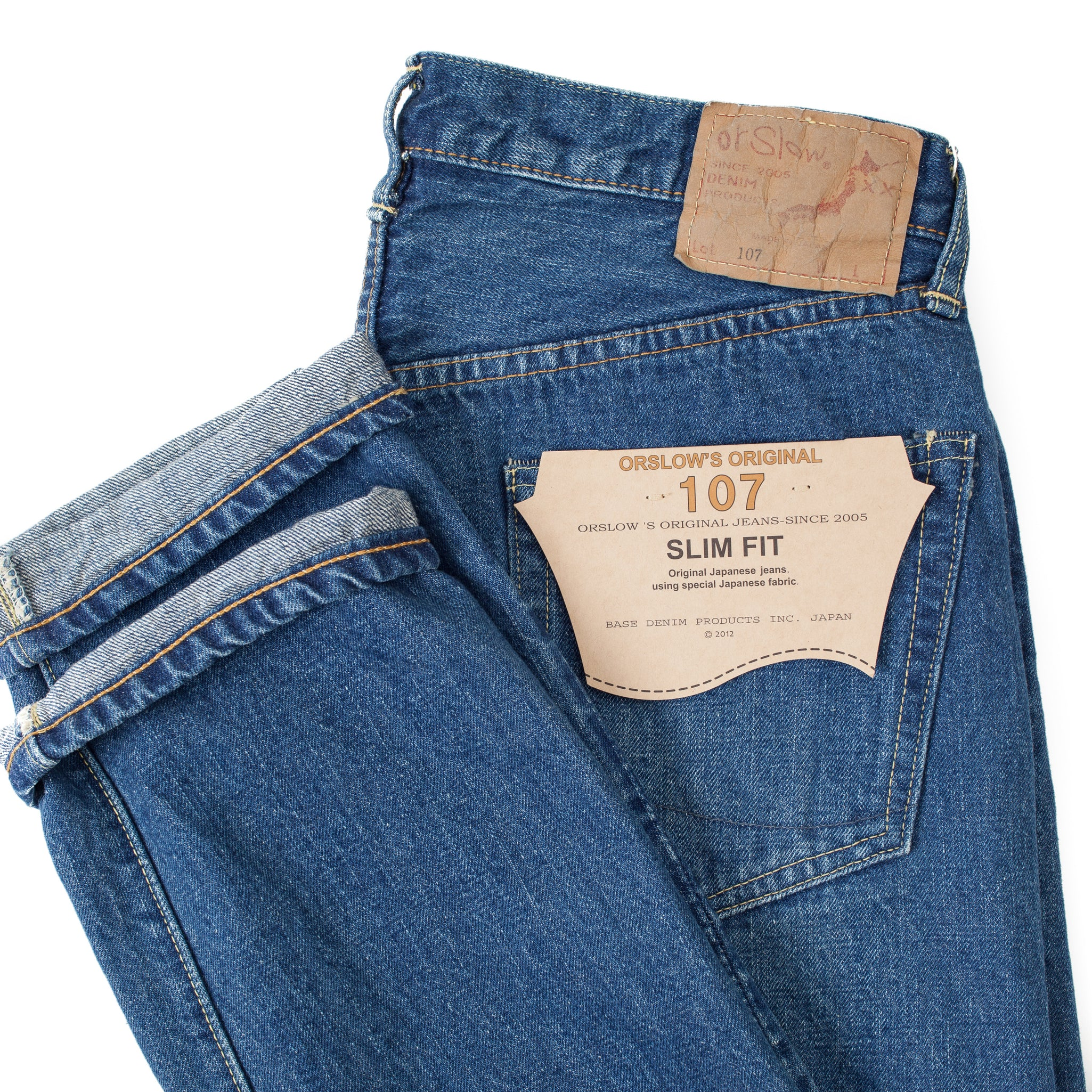 107 Slim Fit 2 Year Wash Denim Pants